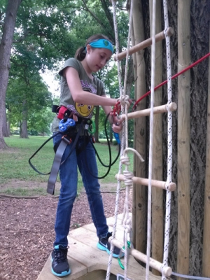 Swing through the trees at Go Ape Treetop Adventure Course